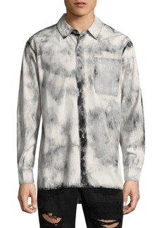 True Religion Washed Long-Sleeve Button-Down Shirt