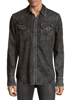 True Religion Long Sleeve Denim Button-Down Shirt