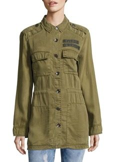 True Religion Long Sleeve Military Jacket