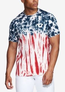 True Religion Men's Americana Tie Dyed Short Sleeve T-Shirt