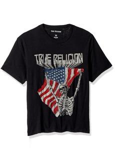 True Religion Men's Born Free Skull Tee  L