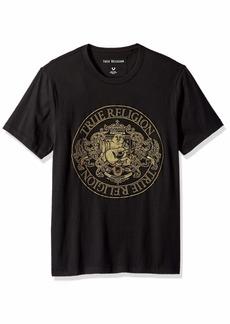 True Religion Men's Buddha Crest Short Sleeve Crew Neck TEE  S