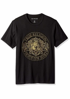 True Religion Men's Buddha Crest Short Sleeve Crew Neck TEE  XL