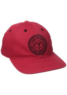 True Religion Men's Buddha Seal Flat Brim Cap