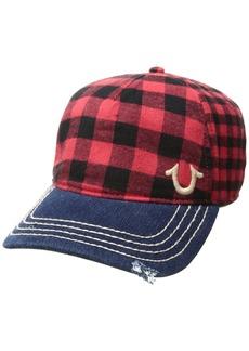 True Religion Men's Buffalo Check Cap