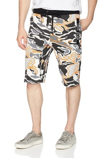 True Religion Men's Camo Sweat Short Multi/Grey S