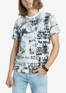 True Religion Men's Collage All Over Print T-Shirt