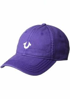 True Religion Men's CORE Logo Baseball Cap Purple rain OSFA