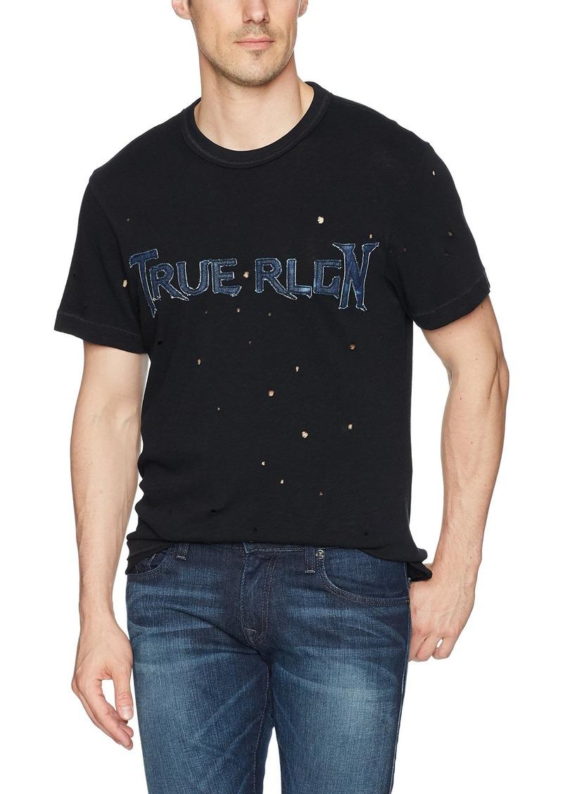 True Religion Men's Denim Applique Logo Tee