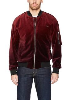 True Religion Men's Dip Dye Velvet Bomber Jacket  XL
