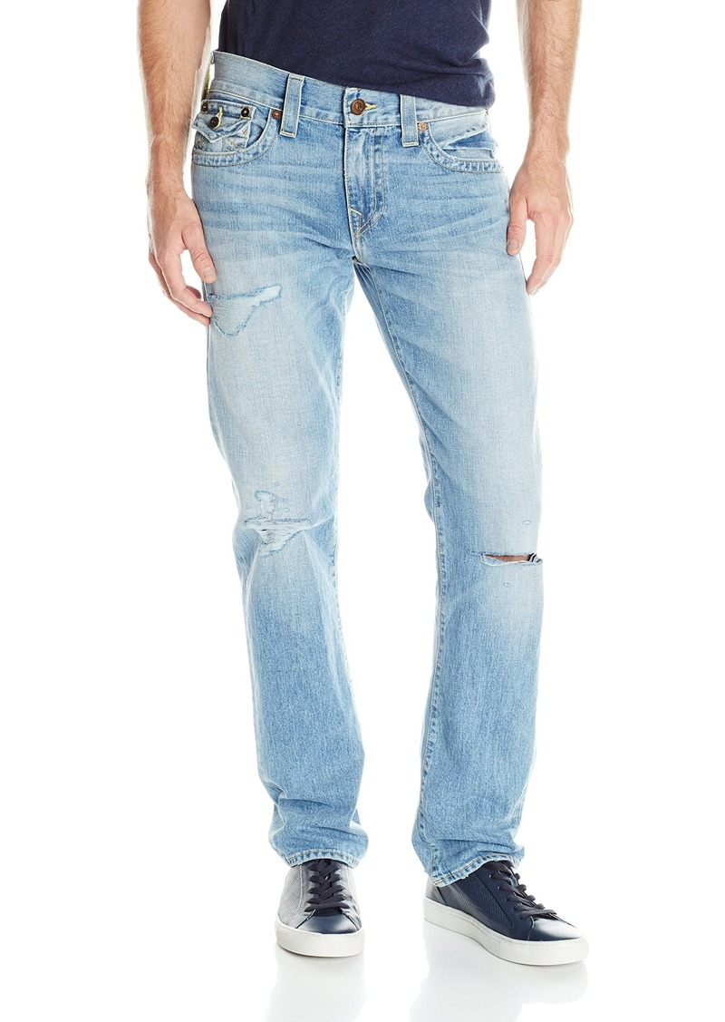 True Religion Men's Geno Flap Pocket Old School Relaxed Slim Jean Down