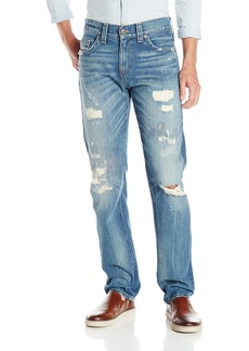 True Religion Men's Geno Relaxed Slim Fit Ripped Jean