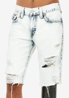 True Religion Men's Geno Stretch Destroyed Denim Shorts