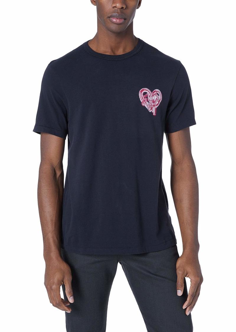 True Religion Men's Heart Horseshoe Graphic Tee  M