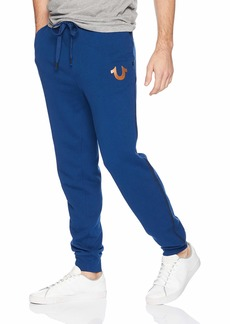 True Religion Men's Horseshoe Logo Jogger Sweatpant  L