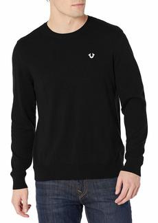 True Religion Men's Horseshoe Long Sleeve Crew Neck Sweater