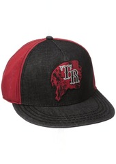 True Religion Men's Indian Head Baseball Cap Black Red