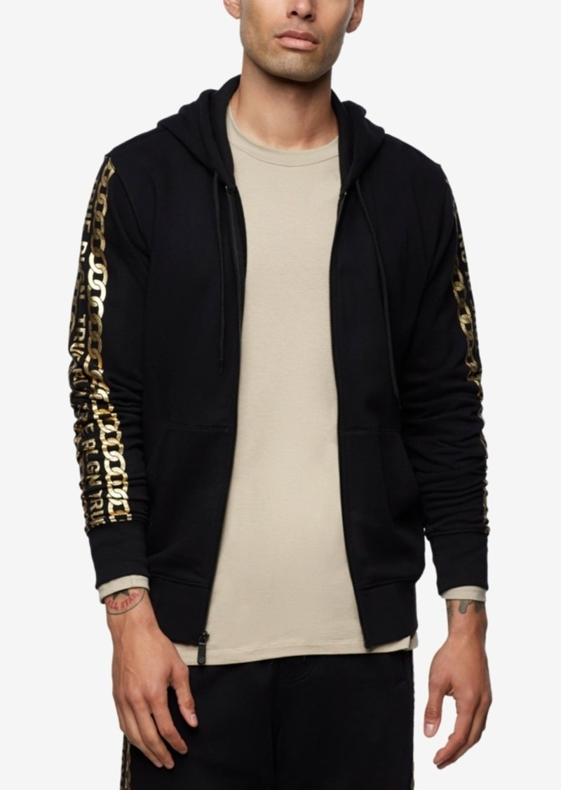 True Religion Men's Logo Zip-up Hoodie