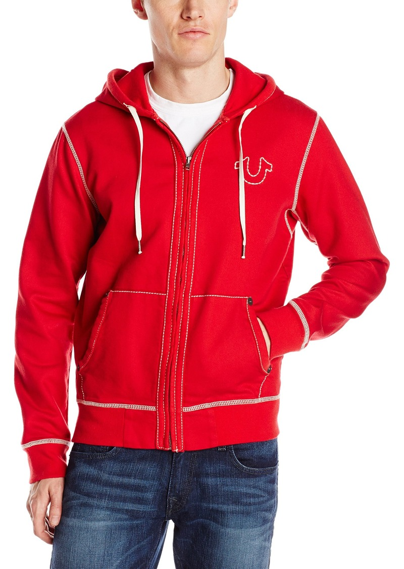 Men's Big T Stitch Hoodie Sweatshirt. True Religion
