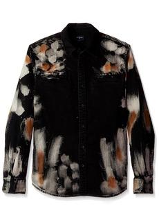 True Religion Men's Long Sleeve Hyde Wash Woven Shirt  XL