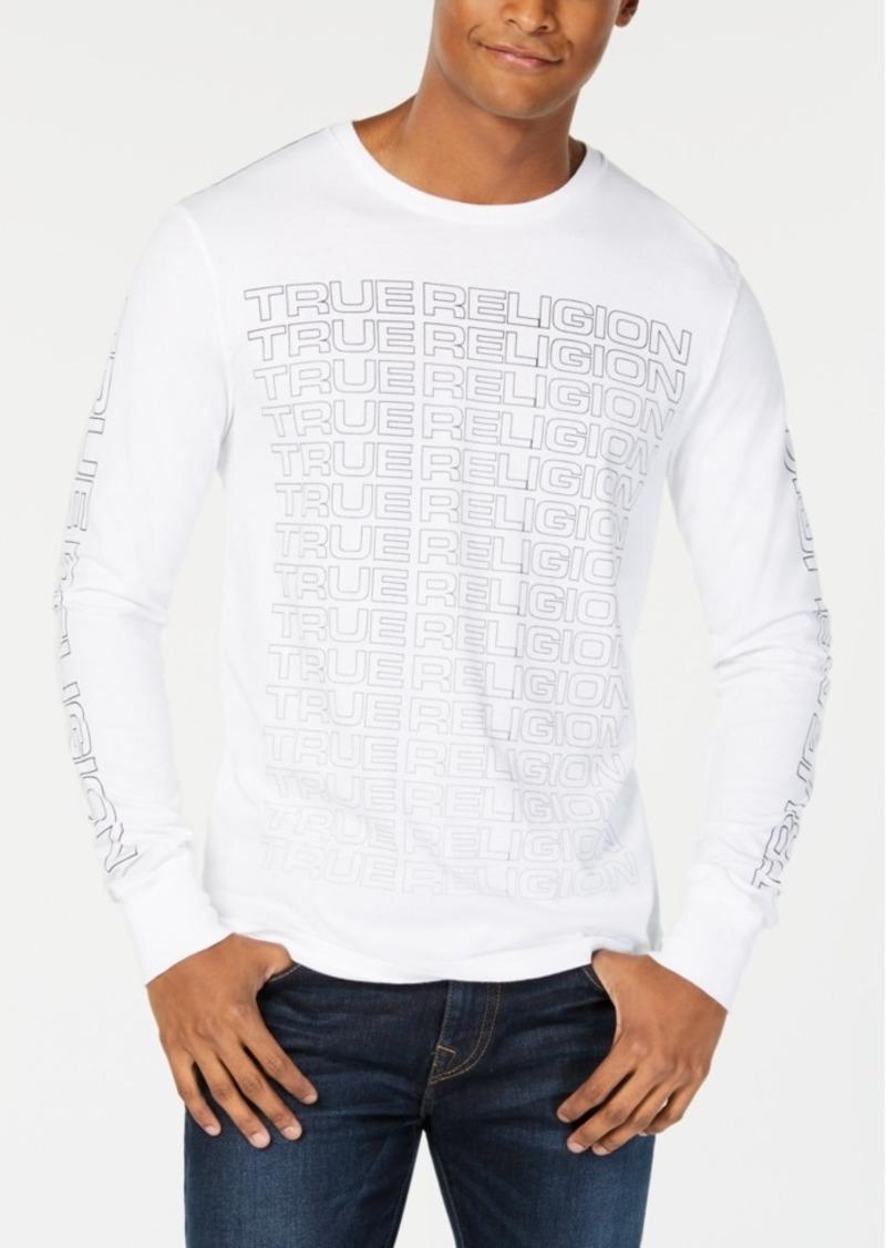 60646f61a00 True Religion True Religion Men s Long-Sleeve Logo T-Shirt Now  29.40