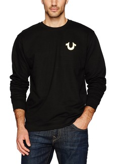 True Religion Men's Metallic Buddha Crewneck Sweatshirt