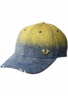 True Religion Men's Metallic Denim Baseball Cap  OSFA