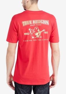 True Religion Men's Metallic Logo Graphic-Print T-Shirt