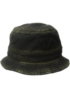 True Religion Men's Metallic Paint Bucket Hat