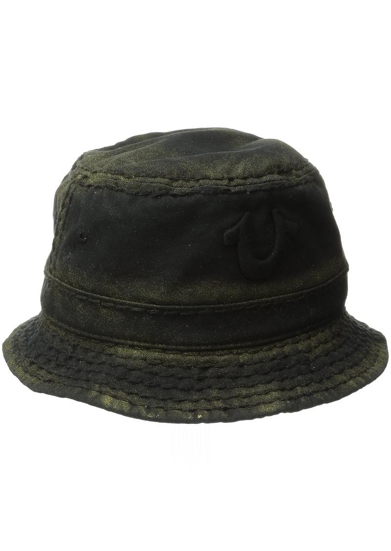 True Religion Men's Metallic Paint Bucket Hat