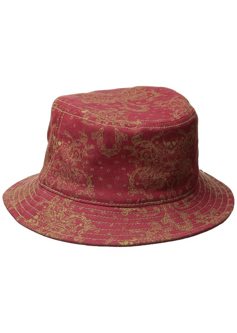 3b7aa1524a3b2 True Religion True Religion Men s Metallic-Print Bucket Hat