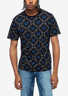 True Religion Men's Monogram All Over Print T-Shirt