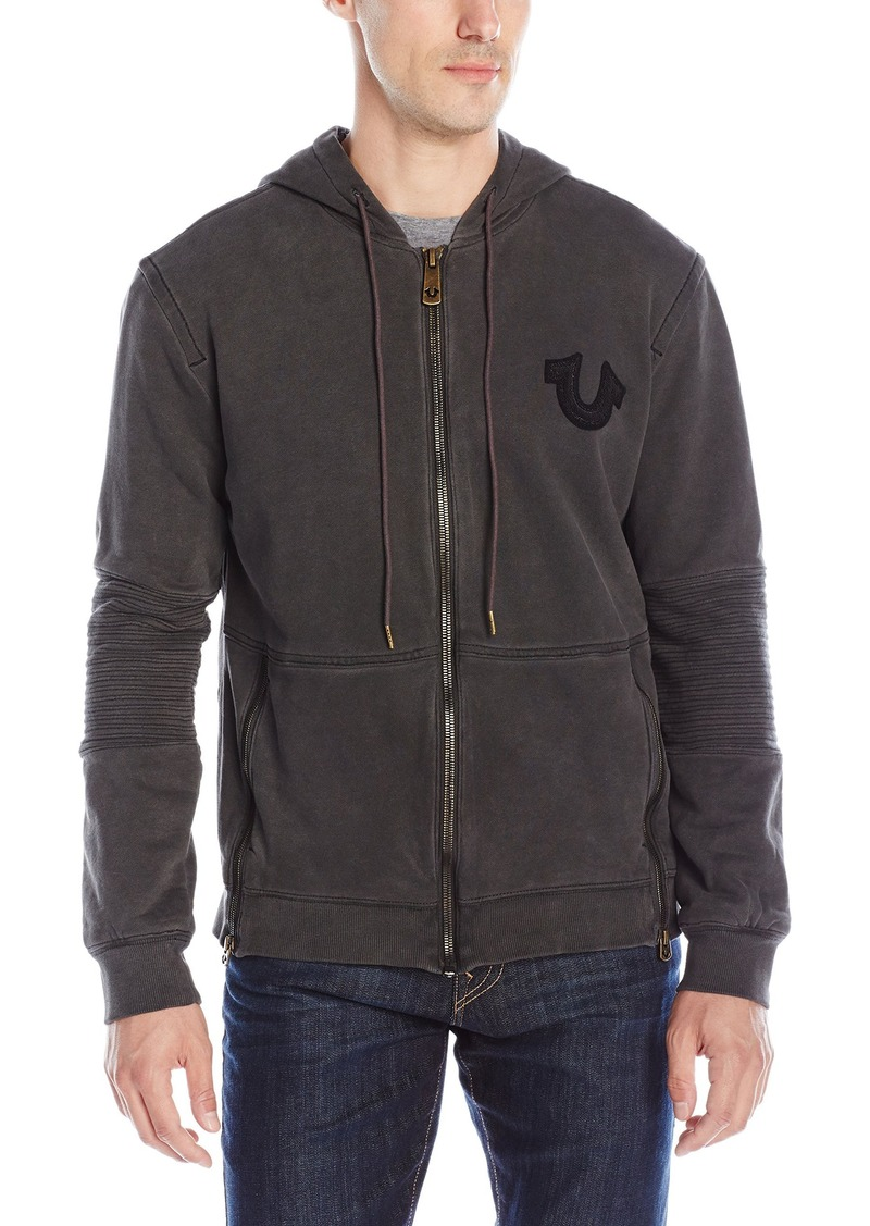 08848b3f7 True Religion True Religion Men s Moto Full Zip Hoodie Sweatshirt ...