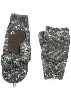 True Religion Men's Mult Colored Knit Mittens