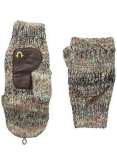 True Religion Men's Multi Colored Knit Mittens