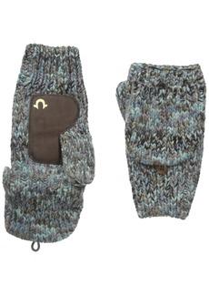 True Religion Men's Multi Colored Knit Mittens