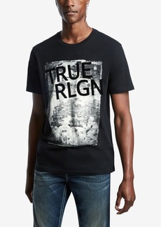 True Religion Men's Newspaper Tr Branded T-Shirt