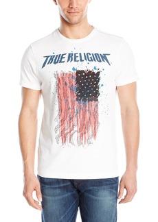 True Religion Men's Paint Splat Flag T-Shirt