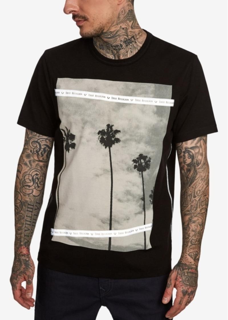 True Religion Men's Palm Tree Photo Print T-Shirt