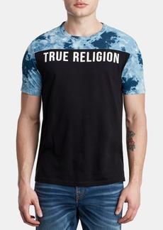 True Religion Men's Pattern Blocked Logo T-Shirt