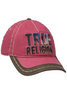 True Religion Men's Printed Embroidery Baseball Cap