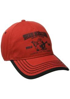 True Religion Men's Puff Buddha Baseball Cap