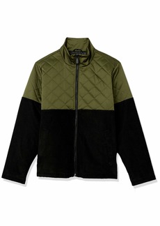 True Religion Men's Quilted Corduroy Long Sleeve Jacket