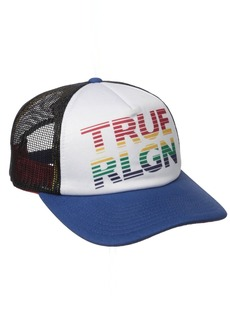 True Religion Men's Rainbow Trucker Ball Cap