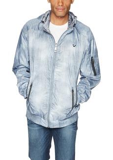True Religion Men's Reversable Wind Breaker Jacket  L
