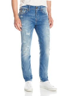True Religion Men's Rocco Destructed Relaxed Slim Jean