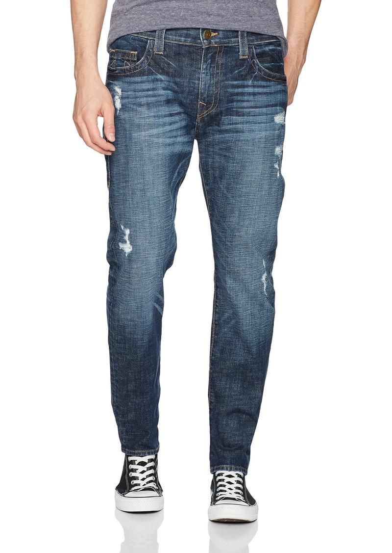 True Religion Men's Rocco Relaxed Skinny Jeans Dark wash