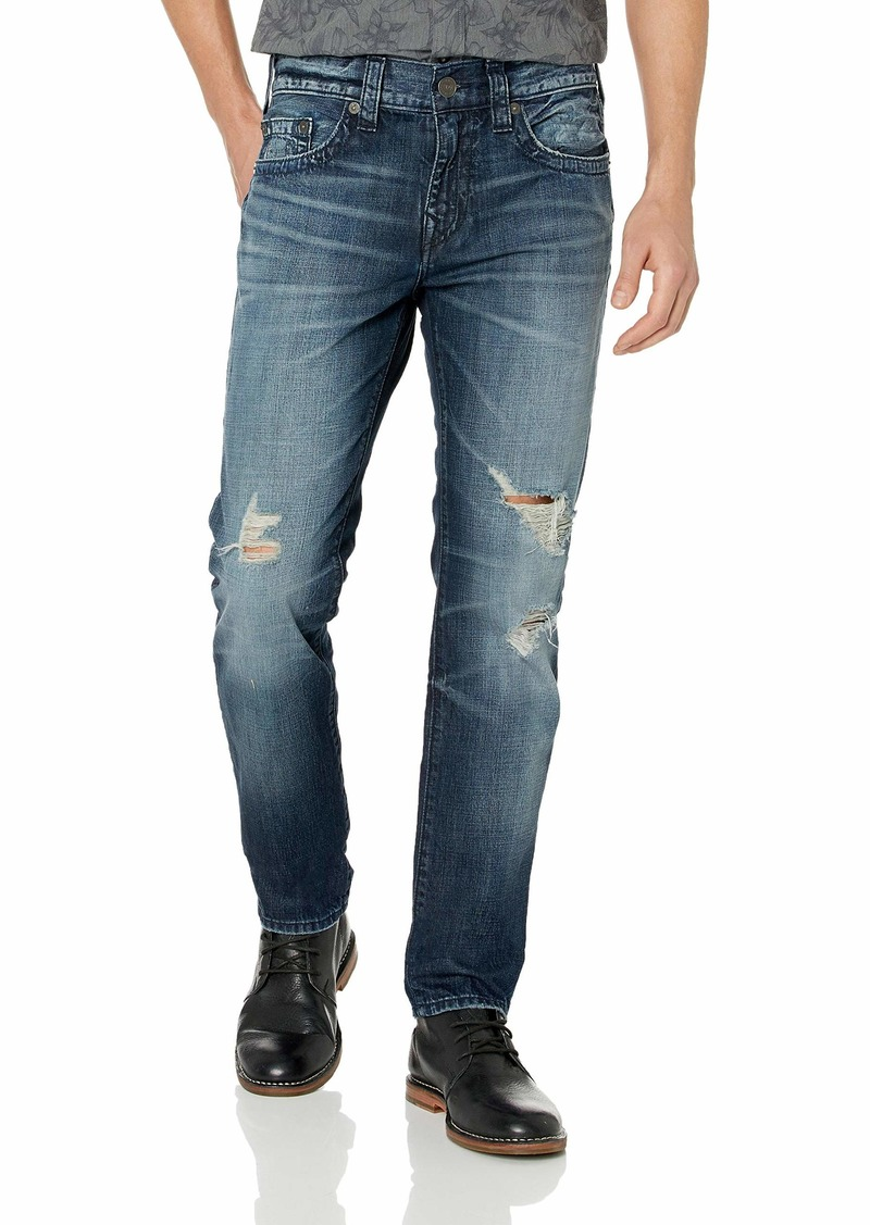 True Religion Men's Rocco Skinny Jean Worn axis