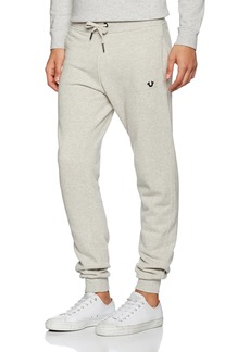 True Religion Men's Runner Pant with Metal Horseshoe  S