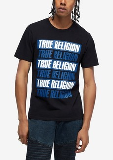 True Religion Men's Short Sleeve Graphic Crewneck T-Shirt